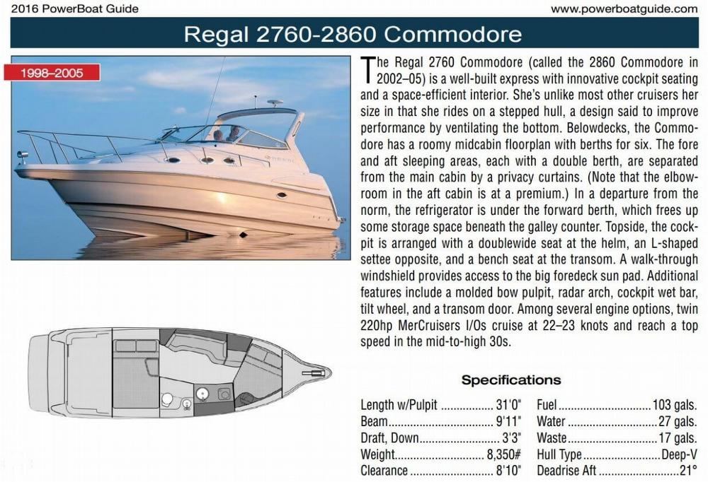 1999 Regal 2760 Commodore - Photo #5